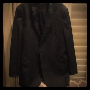 Black wool sports coat.